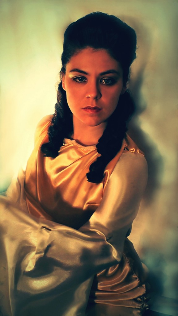 Actress Maria Solovyova in the role of Madonna Laura